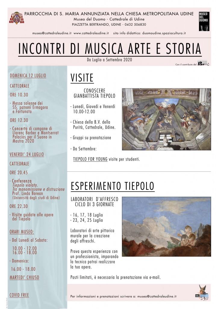 Locandina Incontri Musica Arte e Storia 2020